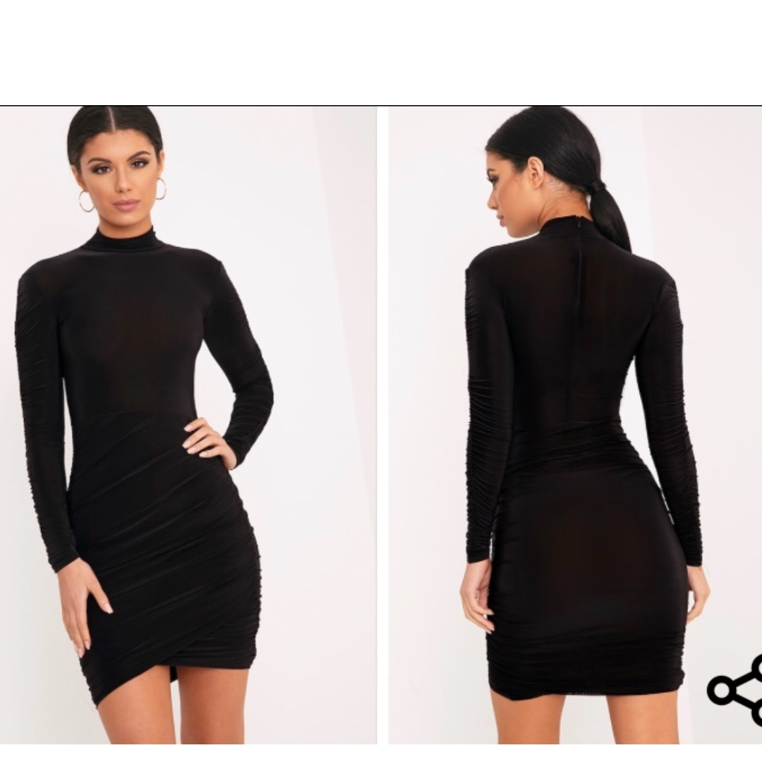 Pretty little thing turtle neck tight dress