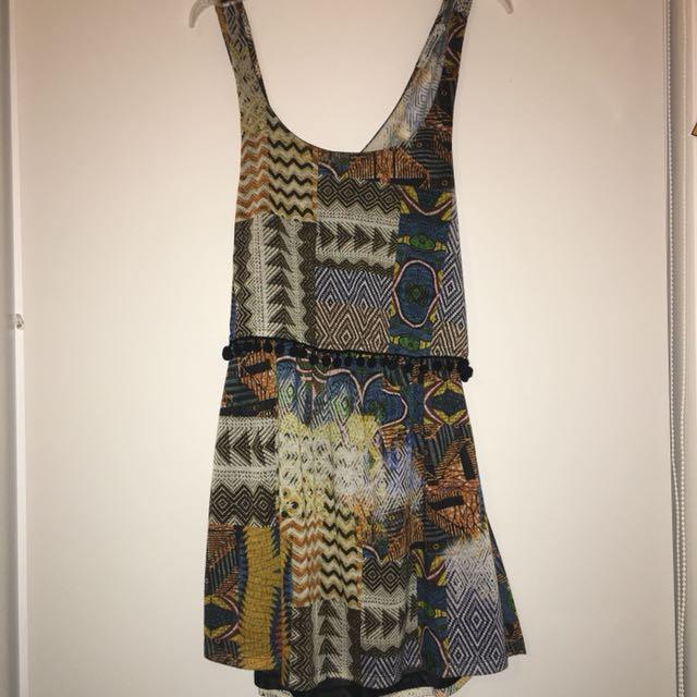 Pull & Bear Bohemian cut out Mini dress