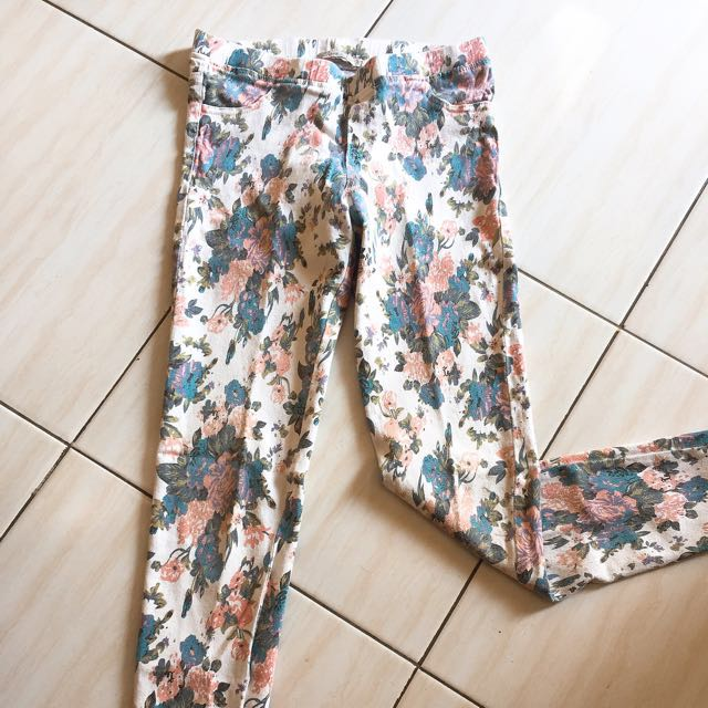 (REPRICE) Flowery Jegging