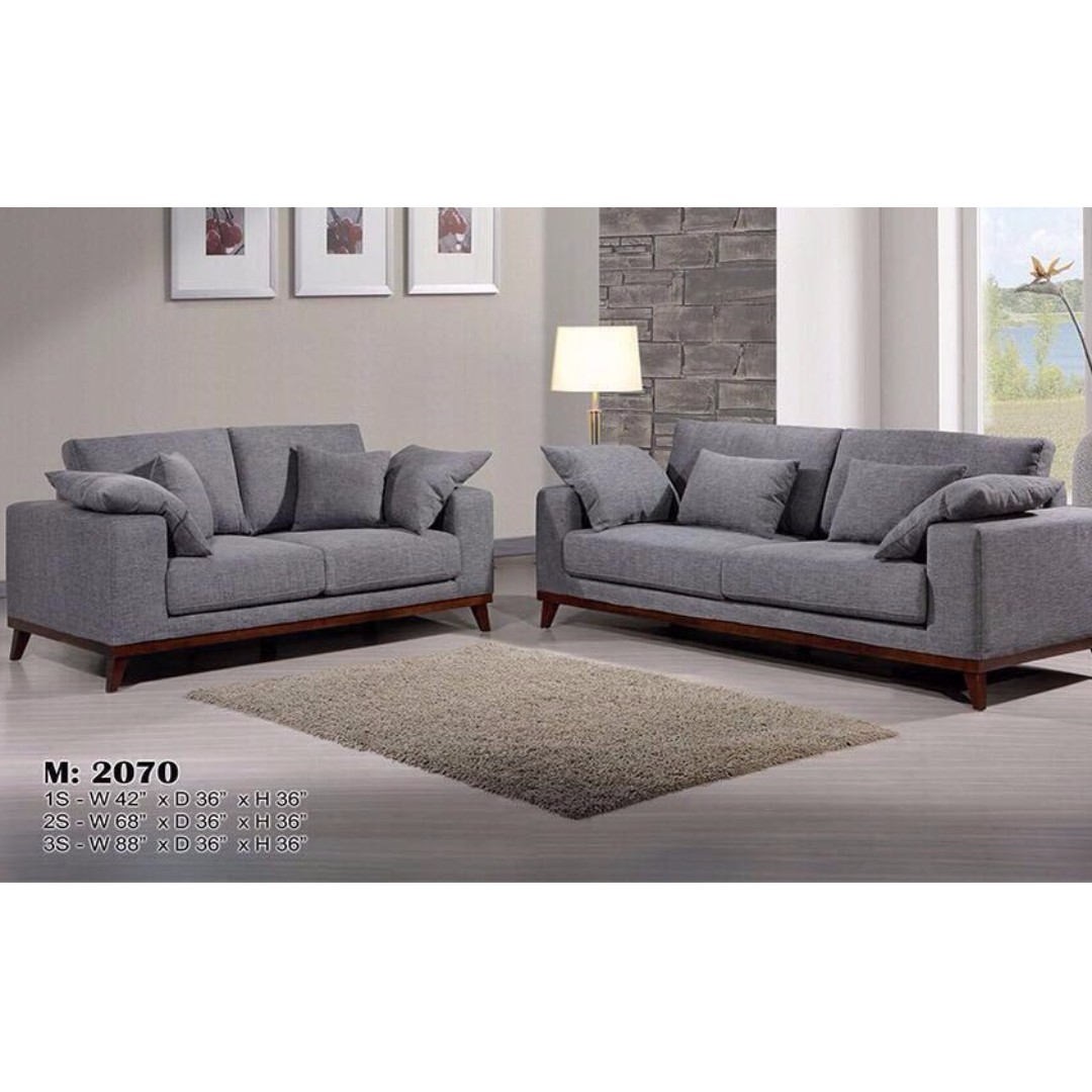 Rosewood Sofa Set Removable Covers