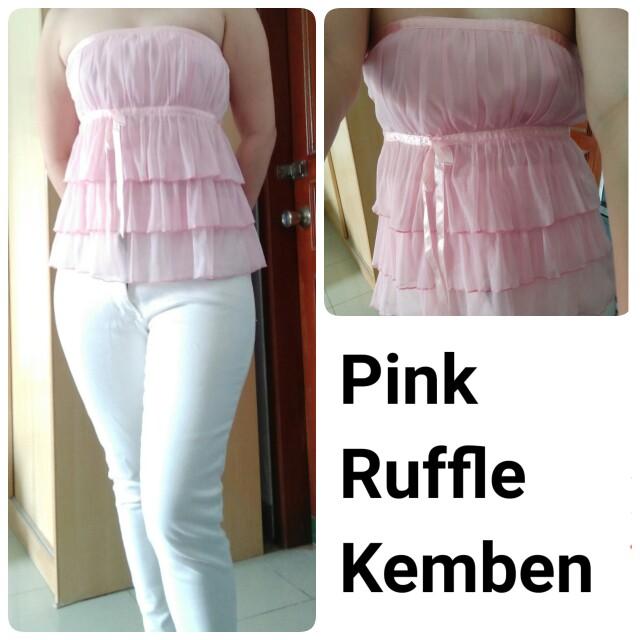 Ruffle pink kemben