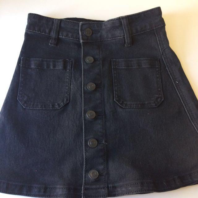 Supre black A-line skirt (size 4)