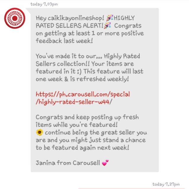 Thank you Carousell!😊😙😍