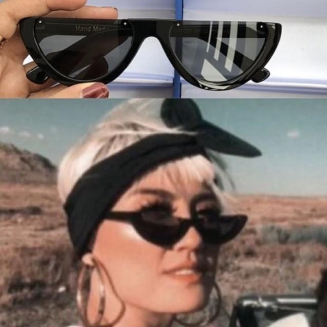 TURUN HARGA!! Half Moon Watermelon Sunglasses Kacamata Tumblr Murah All Black