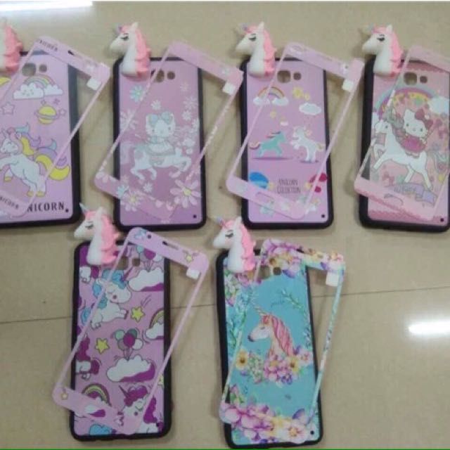 Unicorn case with free tempered glass 🦄