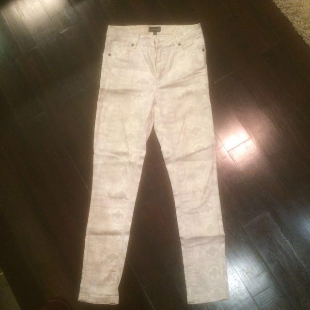 Warehouse white jeans (snake print)