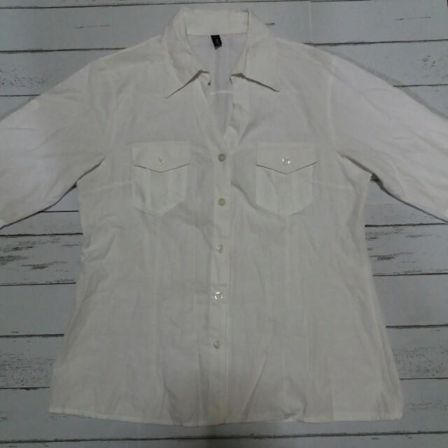 White Button Blouse