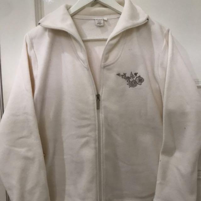 White Fleece Jacket
