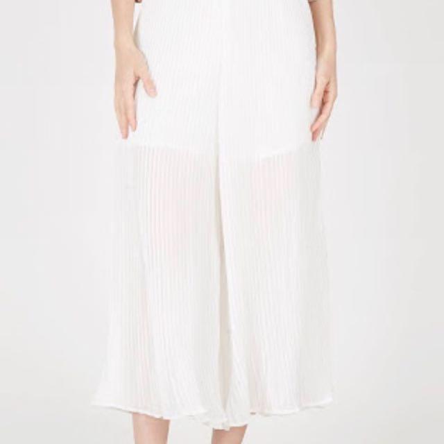 White pants - celana panjang - kulot - celana