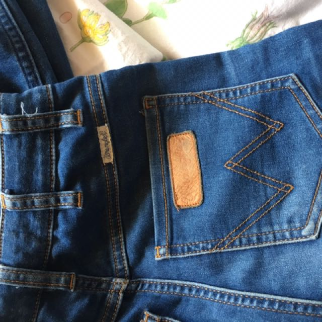 Wrangler highwaisted jeans twiggy 6 dark denim