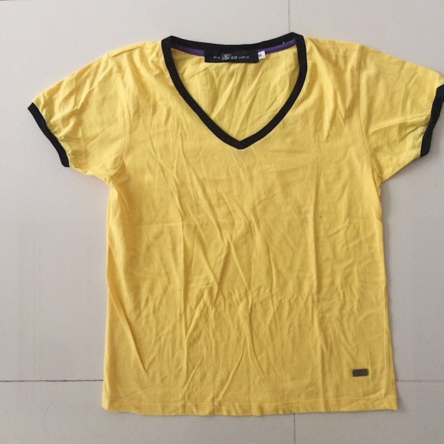 Yellow Top With Black Lining (Repriced)
