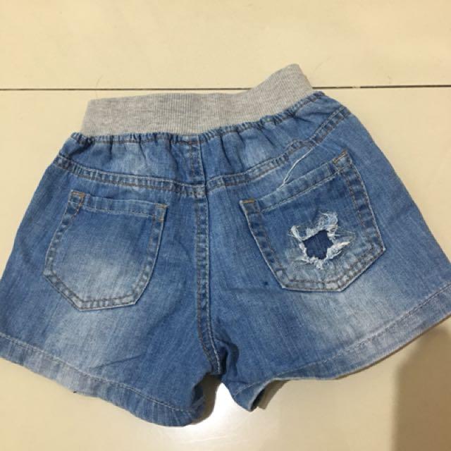zara kids jeans hotpants