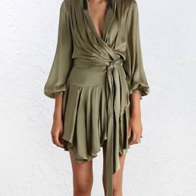 Zimmermann Empire Sueded Robe Dress