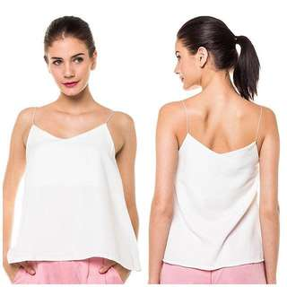 REPRICE-WHITE TANK by callie&posh