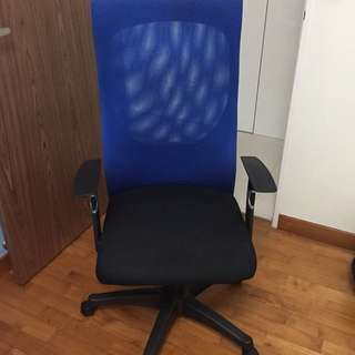 Blue Executive Mesh Chair / Office Chair / Roller Chair
