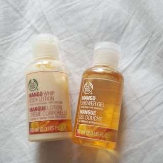 Body shop minis! Mango whip body lotiom and mango shower gel