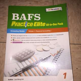 BAFS Practice Elite All in one Volume 1:Financial Accounting 1
