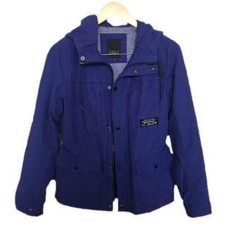 Blue Cargo Jacket/ Parka