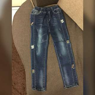 New Korea Fashion Kids Girl Jeans / Pant