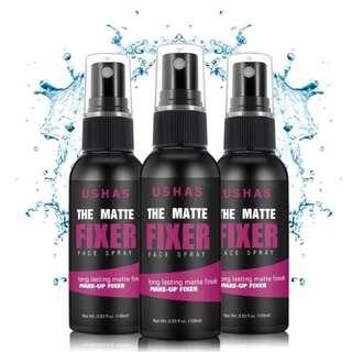Ushas Long lasting matte finish makeup fixer face spray [Ready stock]