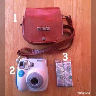 Fujifilm instax camera, bag and film