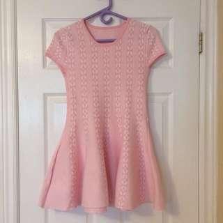 Pink Pattern Sweater Dress