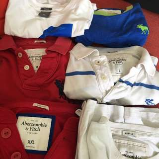 Various Abercrombie & Fitch Polo and T- Short