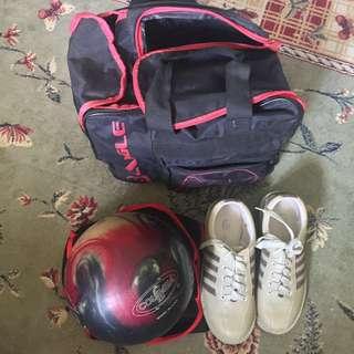 Bowling Ball & Shoes Set