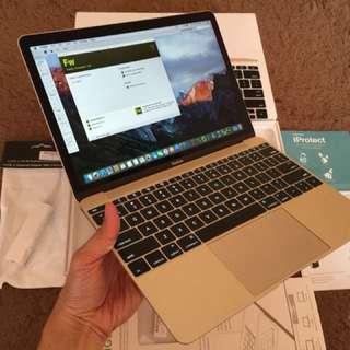 "Macbook Retina 2016 Gold Edition 12"""