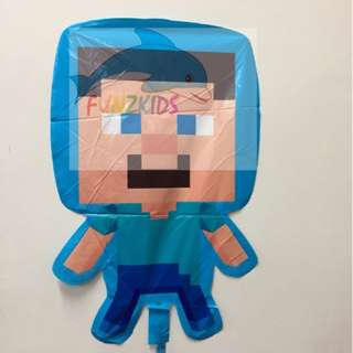 Minecraft Steve Foil Balloon