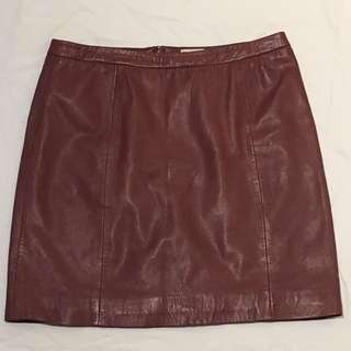 Gorman Terracotta Leather Skirt