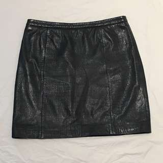 Gorman Croc Leather Skirt