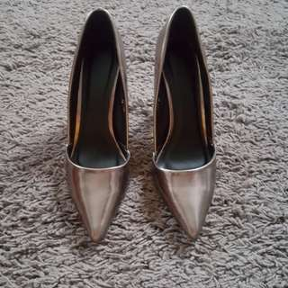 Silver grey shoes