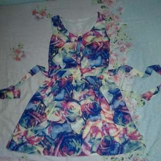 Floral Dress With Pads