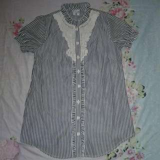 Striped Polo Dress FREEWAY
