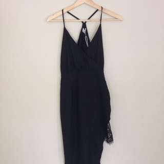 Black dress runway the label size 10/M