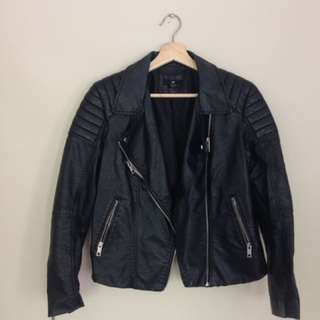 H&M Faux leather jacket size 10-12