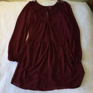 Gorgeous maroon vintage dress
