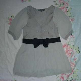 Blouse With Ribbon