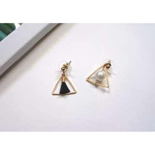[NEW] Tassel & Pearl Asymmetrical Earrings
