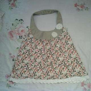 Floral Backless Blouse