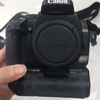 Canon EOS 400D Body Only + Battery Grip + 2 Battery