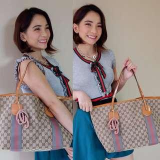 Authentic Gucci Jolie Medium Tote Bag. Patent Orange