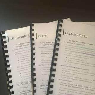HSC Course Notes
