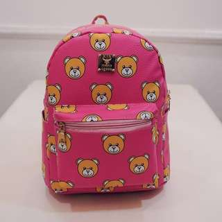 Brand new cute bear pink backpack bag
