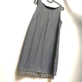 Silver dress with lace (Japan Fabric)
