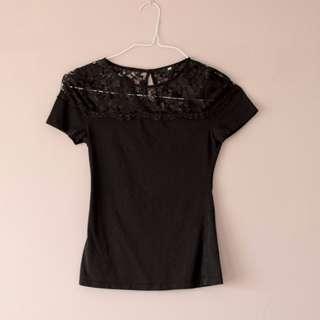 H&M black lace top