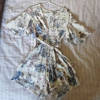 Floral playsuit BNWT
