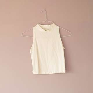 REDUCED Plain white crop top