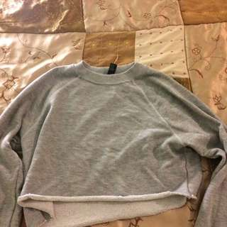 Forever 21 crop sweater grey